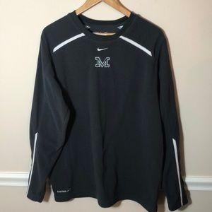 Nike Thermafit Michigan State Gray Fleece M